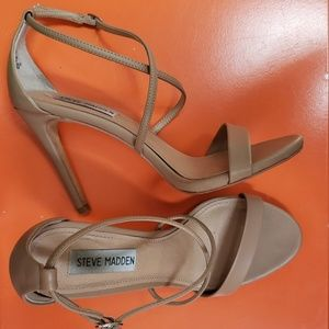 Steve Madden high heels sandals, 7.5, beige color